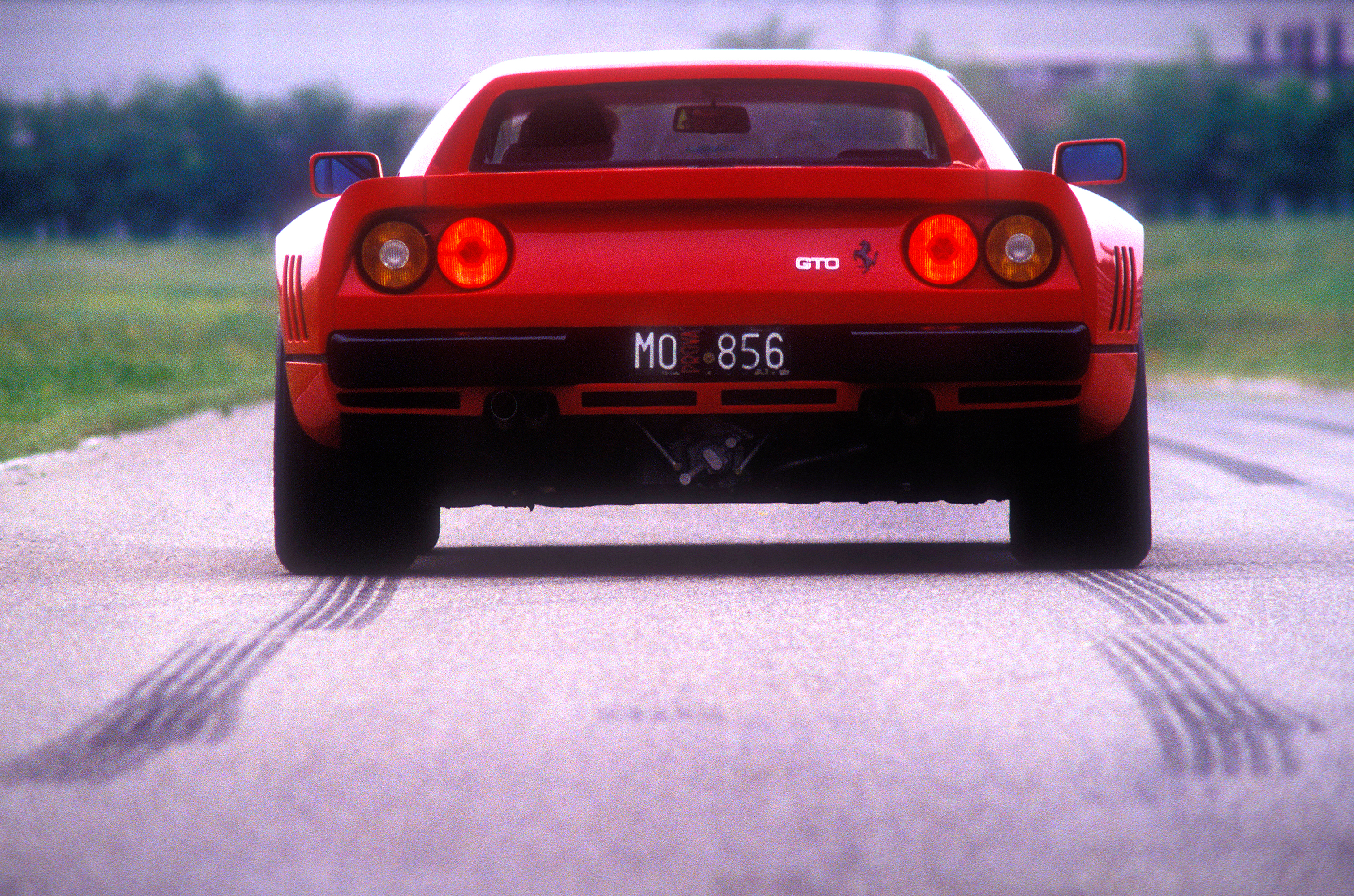 Ferrari 288 GTO on test track @ Fiorano. 1984